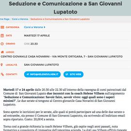 Seduzione e Comunicazione a San Giovanni Lupatoto
